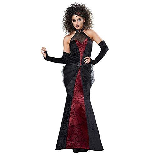 LNC-QQNY Lenceria Sexy Halloween Devil Vampire Spider-Man Queen Disfraz Disfraz Juego de rol Mujeres Adultas en Europa y los Estados Unidos