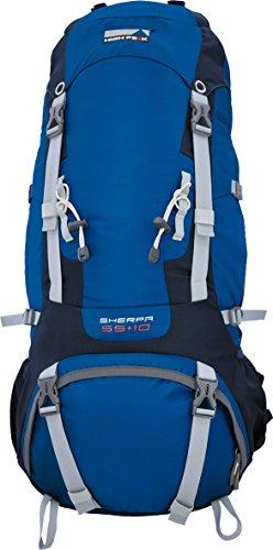 High Peak Rucksack Sherpa 65+10, blau/dunkelgrau, 32 x 40 x 85 cm, 75 Liter