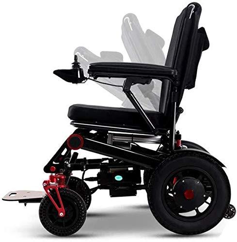 QZDDLY Elektro-Rollstuhl for Erwachsene, Carbon-Faser-Folding Elektro-Rollstuhl, leicht, tragbar alte Generation Scooter, Lithium-Batterie for elektromagnetische Bremse Vollautomatische
