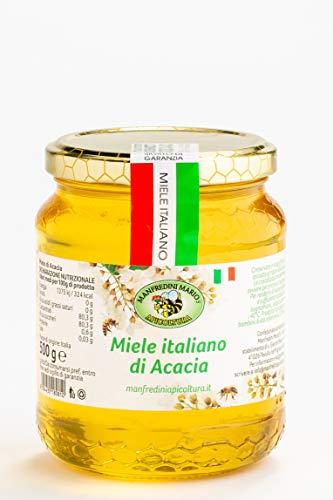 Apicoltura Manfredini - Miele Di Acacia (Italiana), Peso Netto: Vaso Vetro 500 Gr