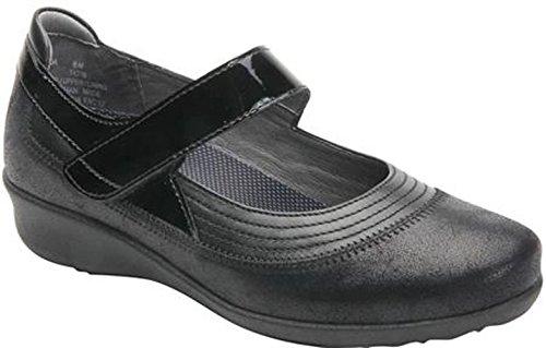 Drew Shoe Genoa 14316 Women's Casual Shoe: Black/Combo 9.5 X-Wide (2E) Velcro