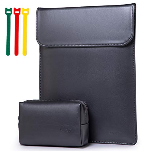 HYZUO 13-13.5 Inch Laptop Sleeve Case Compatible with 13.5 Surface Laptop 3 2 1/MacBook Air 13 2010-2017/MacBook Pro 13 2012-2015/iPad Pro 12.9 2015 2017/Hp Spectre x360 13/HP ENVY 13, Titanium Grey