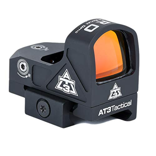 AT3 Tactical ARO Micro Red Dot Sight - Direct Mount, Low Mount, Optional Riser Mount - 3 MOA Compact Reflex Sight