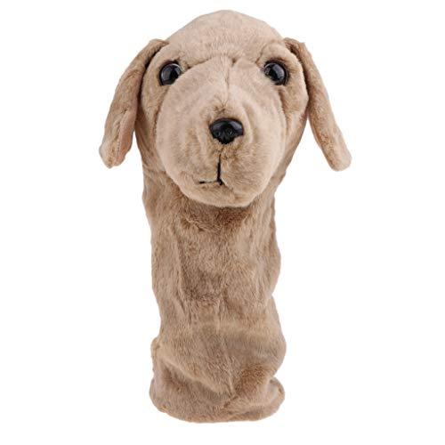 Toygogo Lustige Animal Golf Club Headcover Holz Driver Head Protect Cover 6 Zeichen - Brauner Hund