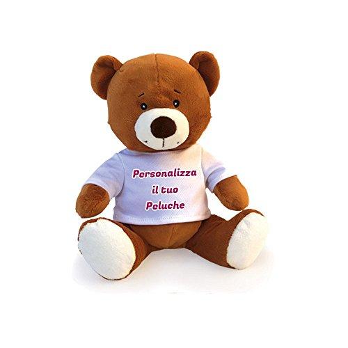 Pupazzo Peluche a Forma di Orso Pupazzetto Personalizzato con Foto Testo e Immagini