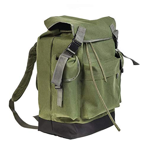 70L Fishing Equipment Bag Large Capacity Outdoor Backpack Camping Hunting Climbing (Military Green)