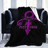 Dianer Blanket Prince-Purple-Rain Sans Soft Warm Faux Fur Throw Blanket Fleece Blanket