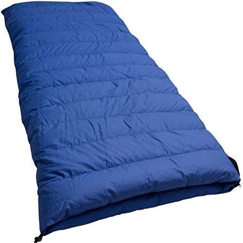 Lowland Outdoor® Companion CC 2 Sac de Couchage en Duvet Bleu 220 x 80 cm