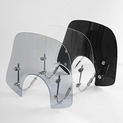 Sport Bikes Scooter Windschutzscheibe Deflektor Protektor für Piaggio Vespa LX 150 125 50 LX125 LX150 LX50 GT200 GT 200 GTS250 GTS300 GTS 250 300 125 Super Sport Bj Motorteile (Leichter Rauch)