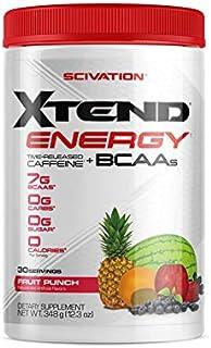 【海外直送品】Scivation Xtend Energy BCAA 30杯分 (フルーツパンチ)