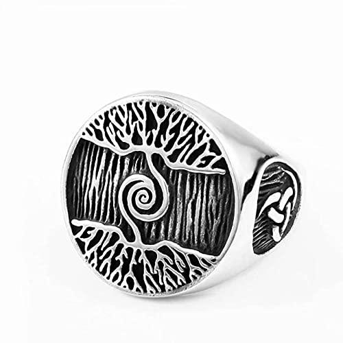 Soldado de Acero árbol de la Vida Hombres clásicos Anillo de Acero Inoxidable diseño Vikingo Amuleto joyería envío de la Gota joyería Nueva