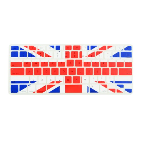 """TopCase Flag Keyboard Silicone Cover Skin for Old Generation MacBook Pro 13"""" 15"""" 17"""" Aluminum Unibody (with or w/Out Retina Display) iMac and MacBook 13"""" + TopCase Mouse Pad (UK)"""