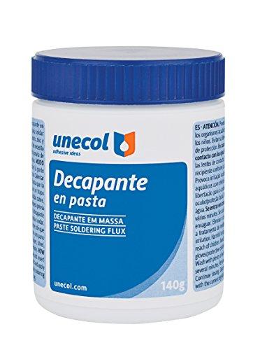 Unecol 7005 Decapante (pasta, bote con pincel), Blanco, 140 g