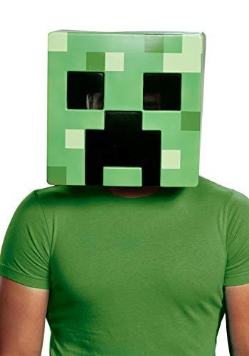 Disguise Minecraft Creeper Half Mask Standard