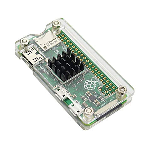 Camisin With Heatsink Acrylic Protector Cover Case for Raspberry Pi Zero(Transparent)