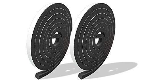 プランプ オリジナル 隙間テープ スキマッチ 黒 ブラック 厚 9 mm × 幅 10 mm × 長 2m 2本入(合計4m) 日本製 ゴムスポンジ 防水 防音 すきま 窓 玄関 引き戸 隙間