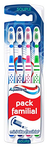 Aquafresh Lot de 4 Brosses à Dents Pacquet Familial, Souple