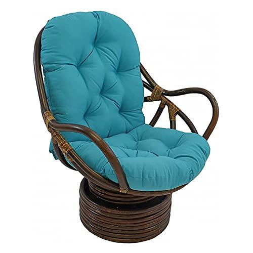 eewopjkj draaibaar schommelkussen wasbaar en UV-bestendig schommelstoel kussens rotan liggende schommelstoel kussen mat vouwen tuin zitkussen Tatami bank zonder stoel blauw