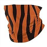 Animal Stripes Tiger Leather Versatile Multifunction Headwear Neck Gaiter Balaclava Helmet Liner Riding Face Cover for Kids Women Men Outdoors UV Protection