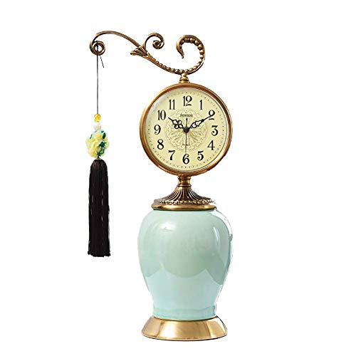Reloj De Sobremesa Reloj Antiguo Reloj De Escritorio Vintage Reloj Silencioso Para Sentarse Reloj Digital Romano Reloj Chapado En Cobre Europeo, Adecuado Para Decoración De Sala De Estar, Mesita De N