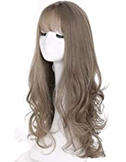 Long curly hair big wave with fashion bangs wig