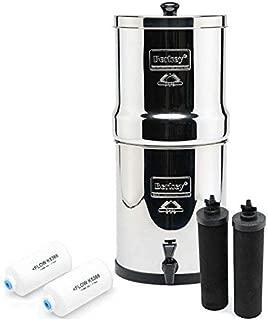 Big Berkey BK4X2 Countertop Water Filter System with 2 Black Berkey Elements and 2 Fluoride Filters