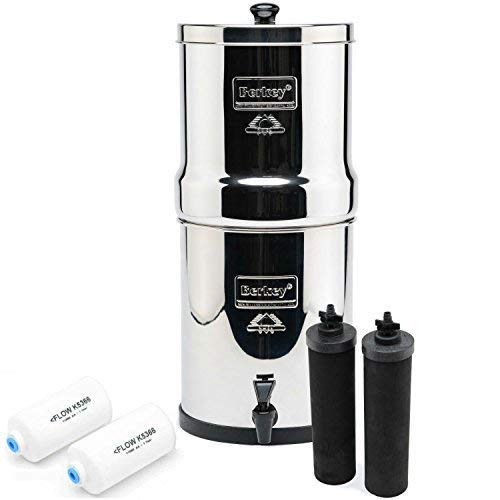 Berkey Big BK4X2 Countertop Water Filter System with 2 Black Berkey Elements and 2 Fluoride Filters by Berkey