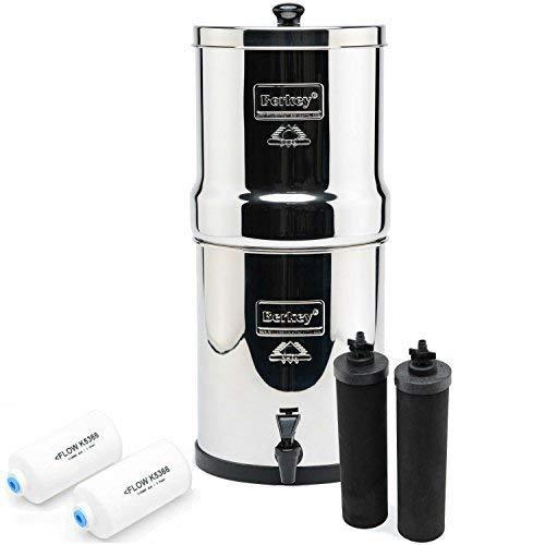 Big Berkey BK4X2 Countertop Water Filter System with 2 Black Berkey Elements and 2 Fluoride Filters by Berkey