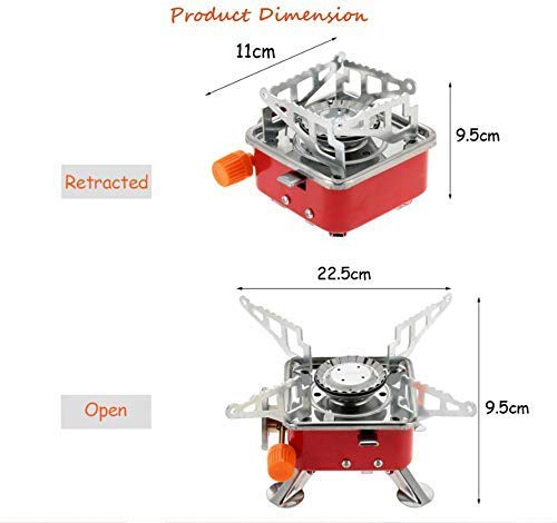 GADGETRONICS Gas Stove Camping Stove Folding Furnace 2800W Outdoor Stove Picnic Cooking Gas Burners Camping Stainless Steel Gas Stove Ultra Light Folding Furnace Outdoor Metal Camping Gas Stove