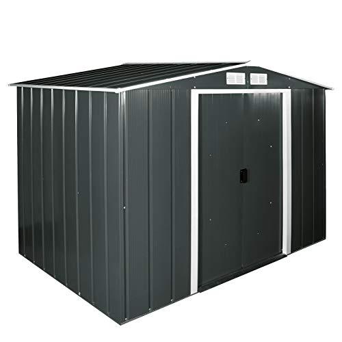 Tepro Duramax Metallgerätehaus Eco 8 x 6, anthrazit/weiß, 262 x 182.1 x 191 cm, 7239