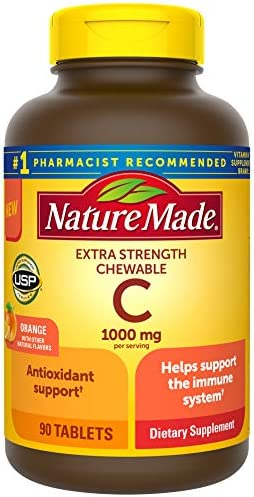Nature Made Extra Strength Vitamin C Chewable 1000mg for Immune Support Antioxidant Support product image