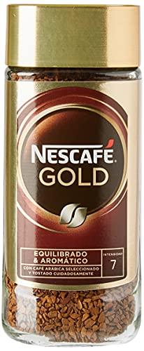 NESCAFÉ GOLD NATURAL aroma y sabor, soluble con café molido de tueste natural 100 % arábica, frasco de vidrio, Pack de 3 x 100 g