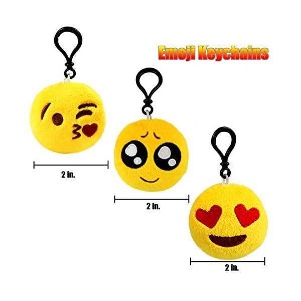 41NB07pryGL. SS600  - Ventdest Mini Emoji Llavero, 35 PCS Emoticon Llavero Emoji Encantadora Almohada para la decoración de Bolsos Mochilas y Llaves Regalitos para niños cumpleaños Colgante de decoración para Coche