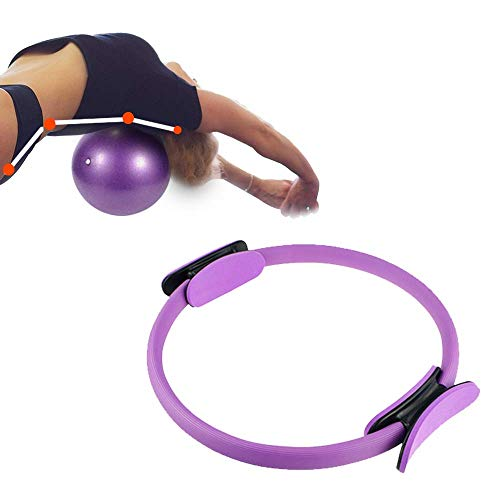 Aro de Pilates Bola 2 Accesorios, Fitness Ejercicio circulación Masaje, Estirar piernas, Dolor Espalda, Entrenamiento en casa, Estiramiento Salud Yoga Material