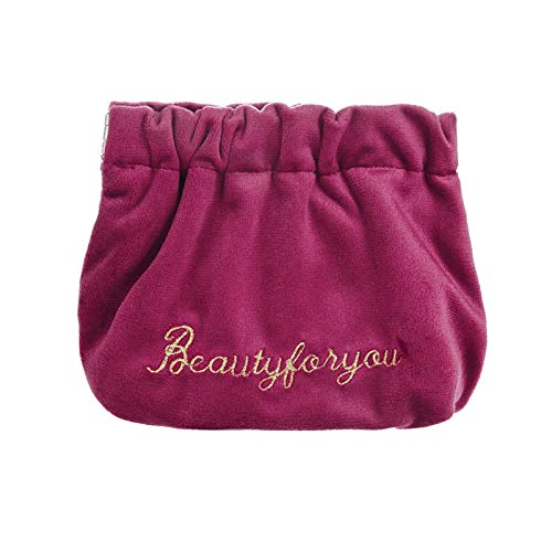 gxglhgsy Cosmetic bag Mini Lipstick Bag Soft Women Cosmetic Bag Travel Makeup Pouch Lipstick Organizer Case Pochette (Color : Wine red)