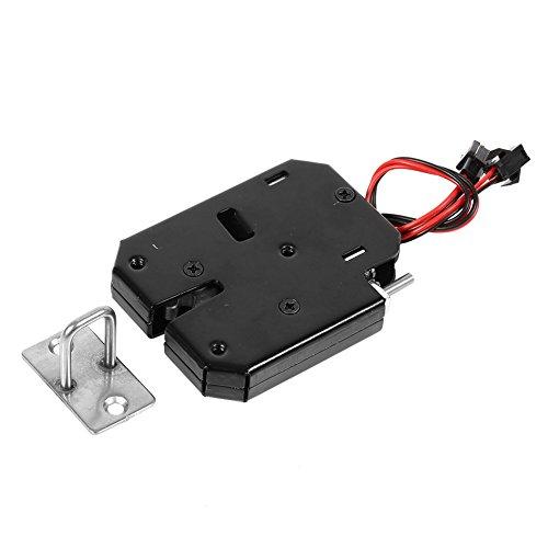 Serratura elettromagnetica DC 12V, 1Pcs Armadio con cassettiera di controllo elettrico Armadietto con serratura magnetica Smart per sistema di controllo accessi porta Nero