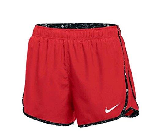 NIKE W Nk Dry Tempo Pantalón Corto, Mujer, Rojo (TM Scarlet/TM Scarlet/TM Black/TM White), M