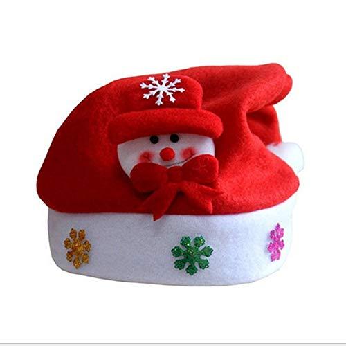 Easyeeasy Sombrero de Navidad Decoración Sombrero de Navidad Sombreros de Santa Gorra Sombrero de niños de dibujos animados