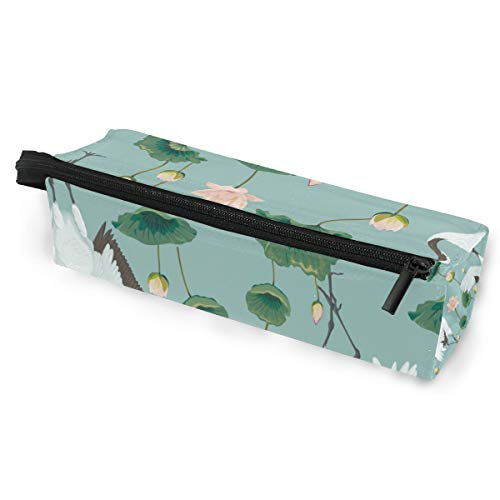 Estuche protector de gafas de sol con estuche para lápices de rombos y bolsa multifunción Lotus con cremallera para estudiantes, niños, adolescentes, niñas, mujeres, hombres, niños