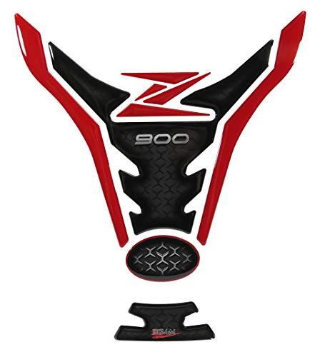BIKE-label 502932-VA - Protector de depósito compatible con Kawasaki Z900, color rojo y negro