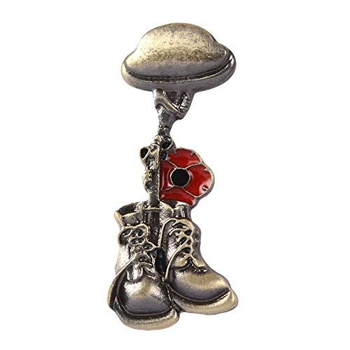 Case Cover 1pc Erinnerung Soldat Brosche Veteran Helm Pins Kleidung Rucksack Abzeichen Brosche Für Frauen Männer