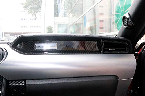 Interior Auto Fahrzeug Zubehör, für LHD Mustang 2015-2018, Linke Hand Fahrer Co-Pilot Dekoration Abdeckung Panel Trim ABS Kunststoff kohlefaser, 1 Teile/Satz