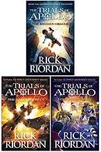 Rick Riordan Trials of Apollo Collection 3 Books Set (Dark prophecy, Hidden oracle, Burning maze)