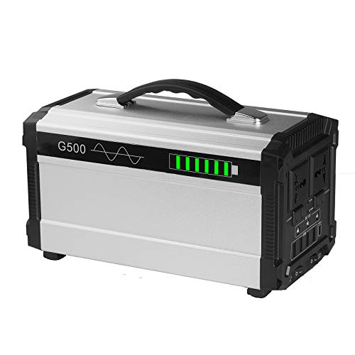 Vinteky G500 ポータブル電源 無停電電源装置 444Wh/120000mAh/500W 大容量 正弦波 発電機 家庭用蓄電池 50Hz/60Hz 東西日本対応 三つの充電方法 ACコンセント DC出力 USBポート キャンプ 防災グッズ 車中泊