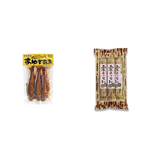 [2点セット] あゆ甘露煮(3匹入)・スティックようかん[栗](50g×3本)