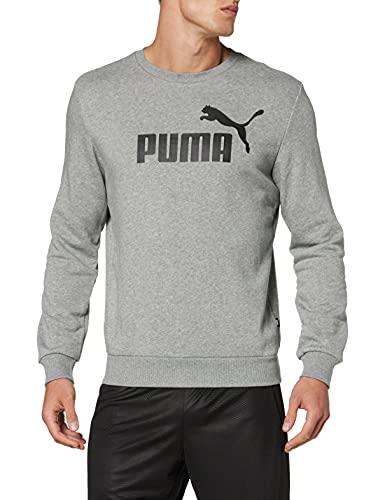 PUMA Essential Crew SWS Big Logo M Sudadera, Hombre, Gris (Medium Gray Heather)