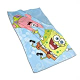 WSXEDC Hand Towels - Spongebob and Patrick Soft and Absorbent Luxury Towel 27.5' X 17.5'
