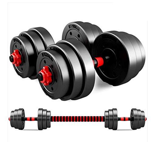 Phil Beauty Hanteln Langhantelset Mit Pleuel 20-30KG Verstellbare Hanteln Für Männer Und Frauen Body Workout Home Gym Home rutschfest Schnelle Und Einfache Installation,30kg