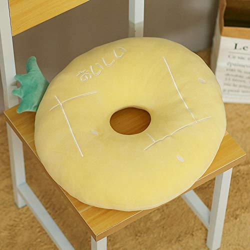 chuanglanja Sitzkissen Stuhl 2 Piece Set Round Fruit Plush Futon Cushion Cushion Tatami Bay Window Cushion Yellow