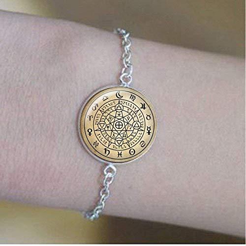 Wiccan Pulseras, Wiccan Protección Amuleto Símbolo Joyería, Wicca T